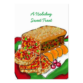 HOLIDAY FRUITCAKE BASKET TAGS ~ GIFT TAG CARDS PACK OF CHUBBY BUSINESS CARDS