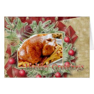 Holiday Greetings turkey Card