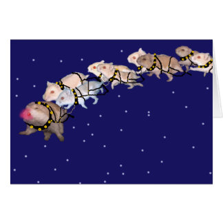 Holiday Hamsters Greeting Card
