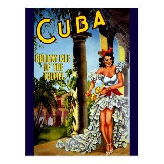 Holiday Isle of Tropics Cuba Vintage Travel Postcard