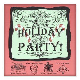 Holiday Party Santa 13 Cm X 13 Cm Square Invitation Card