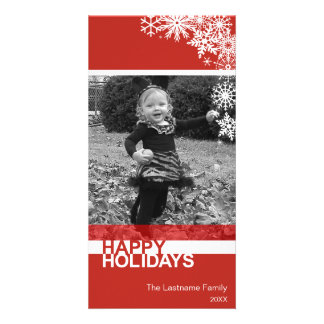 Holiday Photo Card: Let It Snow! Personalized Photo Card