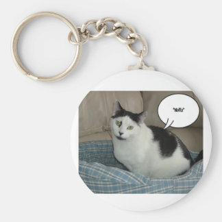 Holla /Raise the Roof! Hello Basic Round Button Key Ring