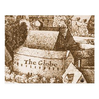 Hollar's Globe Theatre Postcard
