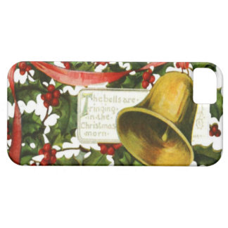 Holly and bells Christmas greeting iPhone 5 Covers