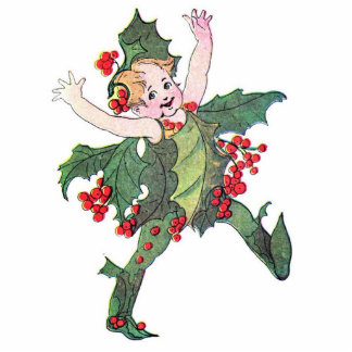 Holly Fairy Standing Photo Sculpture