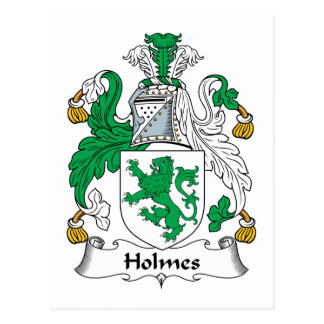 Holmes Family Crest Postcard