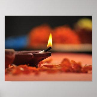 Holy lamp for Diwali festival Poster
