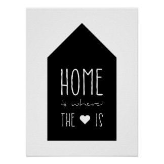 Home Is Where The Heart Is - Inspirational Poster