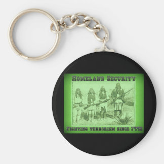 Homeland Security Fighting Terrorism Since 1492 Basic Round Button Key Ring