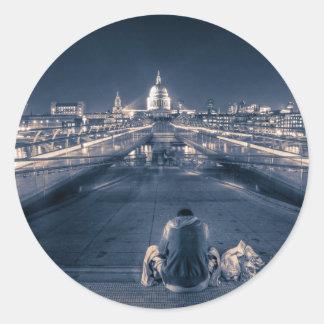 Homeless in London Round Sticker