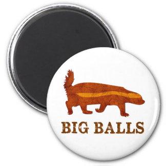 Honey Badger Big Balls 6 Cm Round Magnet