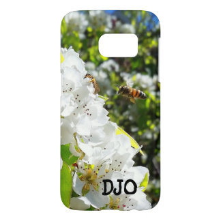 Honey Bee and Pear Blossom with your initials