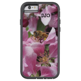 Honey Bee on Crabapple blossom and your Initials Tough Xtreme iPhone 6 Case