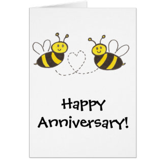 Honey Bees with Heart Greeting Card