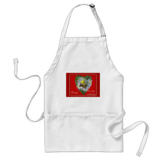 Honeybee on Asters Valentine Standard Apron