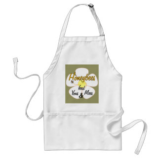Honeybees feed Yous & Mees (White) - Apron