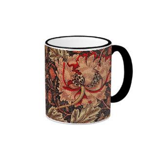Honeysuckle William Morris Pattern Ringer Mug