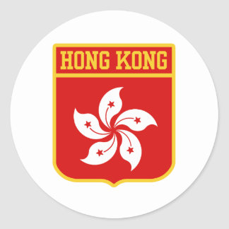Hong Kong Coat of arms Round Sticker