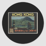 Hong Kong The Riviera of the orient Round Sticker