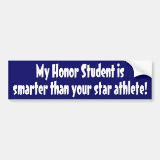Honor Student Bumper Sticker