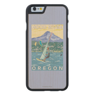 Hood River, ORWind Surfers & Kite Boarders Carved® Maple iPhone 6 Case