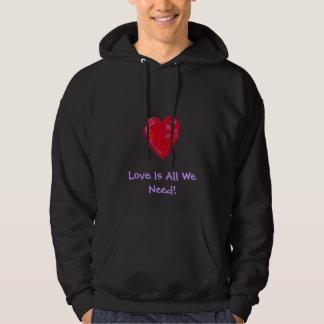 Hoodie Sweatshirt - Groovy Heart