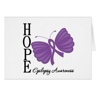 Hope Butterfly Epilepsy Greeting Card