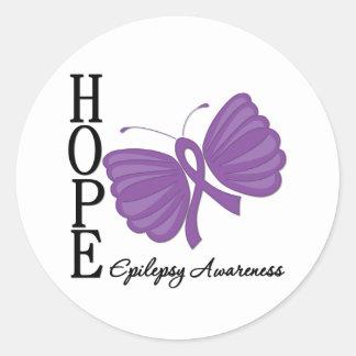 Hope Butterfly Epilepsy Round Sticker