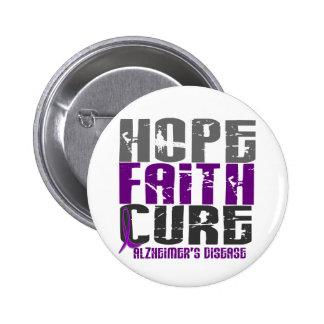 HOPE FAITH CURE ALZHEIMER'S DISEASE 6 CM ROUND BADGE