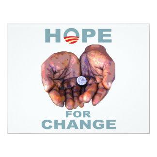 Hope for Change 11 Cm X 14 Cm Invitation Card