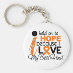 Hope For My Best Friend Multiple Sclerosis MS Basic Round Button Key Ring
