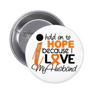 Hope For My Husband Multiple Sclerosis MS 6 Cm Round Badge