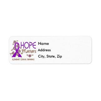 Hope Matters 3 Alzheimer's Disease Return Address Label