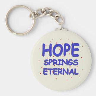 Hope Springs Eternal Keychain