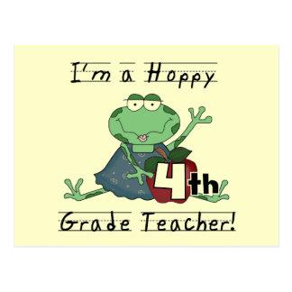 Hoppy 4th Grade Teacher T-shirts and Gifts Postcard