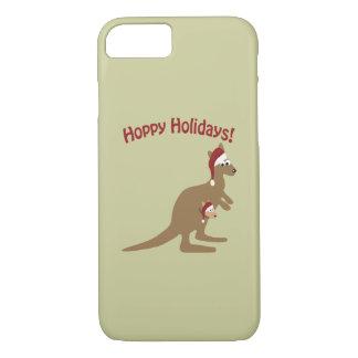 Hoppy Holidays! christmas Kangaroo iPhone 7 Case