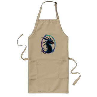 Horned Black Dragon and Symbol  Apron