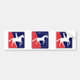 Horse and Rider Bumper Sticker