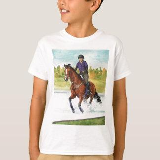 HORSE ART Cross-Country Thru Water Tshirts