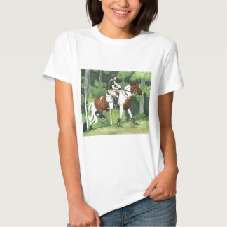 HORSE ART Cross-Country Up the Steps Eventing Tee Shirts