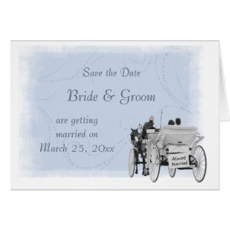 Horse & Carriage - Save the Date - Almost Married Greeting Card