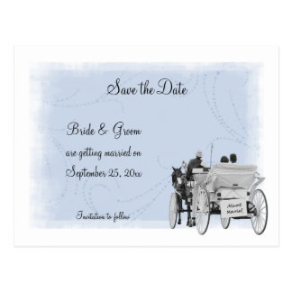Horse & Carriage Save the Date Postcard
