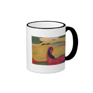 Horse in a landscape, 1910 ringer mug