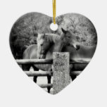 Horse Lovers Wedding or Anniversary Heart Ceramic Heart Decoration