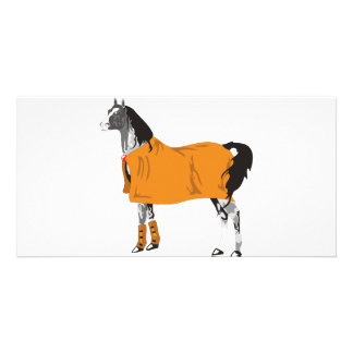 Horse on Holiday Customized Photo Card