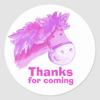 Horse / pony riding thank you party sticker