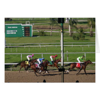 Horse Race Greeting Card