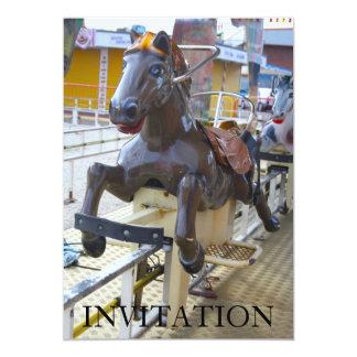 Horse Ride at a Funfair Invitation