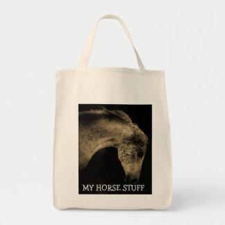 Horse Stuff Grocery Tote Bag